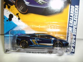 2012 Hot Wheels Lamborghini Gallardo LP 570 4 Superleggera All Stars 126 Case K