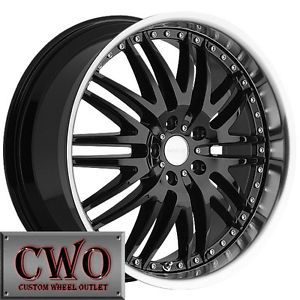 18 Black Menzari M Sport Wheels Rims 5x115 5 Lug cts STS DTS Grand Prix Am Buick