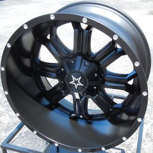 "20x12"" Tis 535B Black Wheels Rims Chevy Silverado GMC Sierra 1500 Ford F 150 4x4"