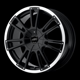 16 inch Black Wheels Rims 4 Lug Aveo Civic Fit Sentra