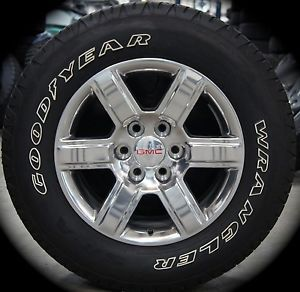 "2014 GMC Sierra Yukon Polished 18"" Wheels Rims Tires Silverado Suburban Tahoe"