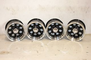 4 Black ion Alloy 171 Wheels 15x10 5x5 5 76 86 Jeep CJ CJ 7 CJ 5 CJ 8