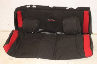 Mastercraft Slip Fit Rear Seat Cover Red Black 07 10 Jeep Wrangler JK 2 Door