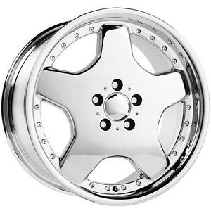 18 inch 18x9 Replica Wheels Rims Mercedes Benz Type M Chrome Staggered 5x112
