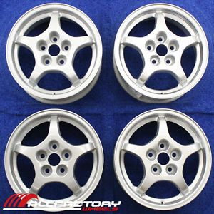 "Mitsubishi Eclipse 16"" 1997 1998 1999 Factory Wheels Rims Set 4 Silver 65751"