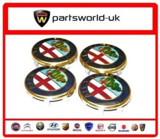 Set of 4 Alfa Romeo Wheel Centre Caps New