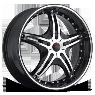 "20"" Gitano G59 Black M Wheel Rims Tires Fit Toyota Nissan Honda Ford Chevy Kia"