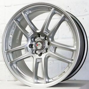 "17"" Kia Rio 2005 2010 Saloon Estate Kei Racing Yari Silver Alloy Wheels 4x100"