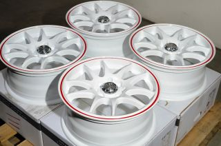 "15"" White Effect Wheels Rims 4x114 3 4x100 Nissan Altima Cube Versa Civic Accord"