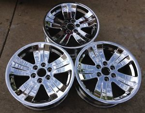 "Nice Set of 3 GM 20"" Chevy Tahoe GMC Denali Yukon Chrome Factory Wheels Rims"