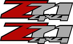 2 Z71 4x4 Chevy Decal Sticker Parts for Silverado GMC Sierra Truck