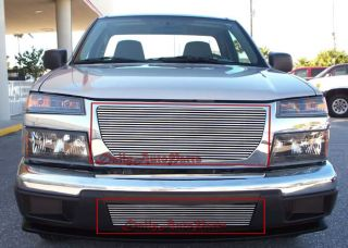 Billet Grille Insert 04 10 GMC Canyon Aluminum Grill Combo Upper Lower