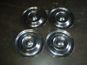 "1950 1953 Oldsmobile Used Nice Lot 4 Hubcap Wheel Covers 15"" Metal Vintage GM"