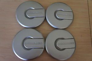 "GM Hummer Hubcap 9594461 Set of 4 Silver ""Hummer"" Wheel Center Cap 9"""