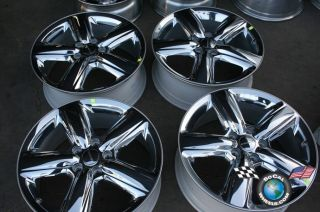 Four 2011 Dodge Durango Factory 20 Chrome Clad Wheels Jeep Cherokee Rims