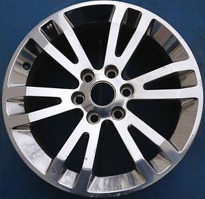 "One Saab 9 7x GMC Envoy Chevy Trailblazer Buick Rainier 18"" Wheel Rim Polished"