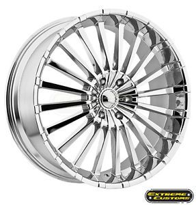 20 x8 5 911 Panther Spline Chrome 5 6 Lug Wheels Rims Free Lugs