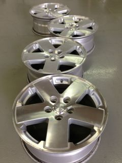 4 Jeep Wrangler Factory 18 Machined Wheels Rims 5x5