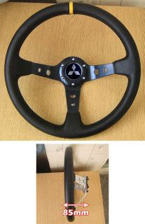 Deep Dish Raly Steering Wheel for Mitsubishi FTO GTO Lancer EVO 3000gt Shogun