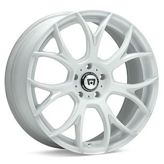 4 17 inch 17x8 Motegi Racing MR126 White Rims Wheels 5x4 5 MR12678012445