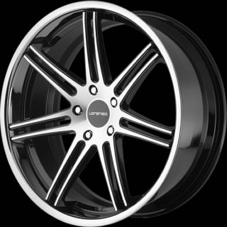 22x11 Machined Black Wheel Lorenzo WL198 5x130