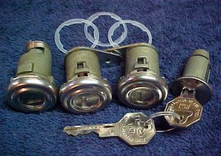 New Door Ignition Trunk Lock Set with Keys GM Pontiac 1955 1956 1957
