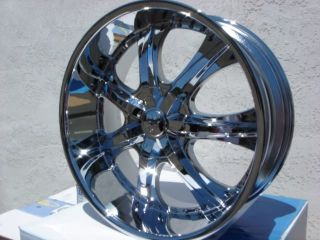 22 U2 35 Chrome Rims Wheels Yukon Escalade Sierra GMC 6x139 7 13 Offset 99 06