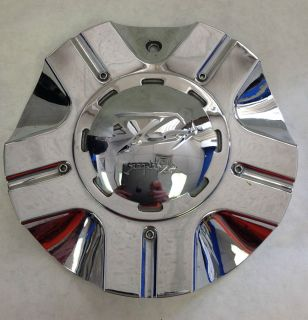 One Used Single Zinik Z01 Wheel Rim Aftermarket Chrome Center Cap s 1 No Screw