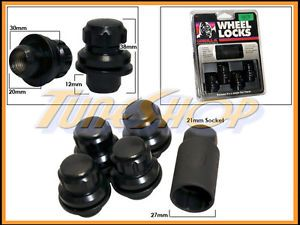 4 Lock Gorilla Mitsubishi Stock Factory Wheels Rims Mag Lug Nut 12x1 5 1 5 Black