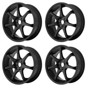 Motegi Racing MR125 MR12589012735 Rims Set of 4 18x9 35mm Offset 5x4 5 s Black