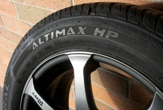 "4 General Altimax HP 225 50 R16 Tires Motegi Racing R7 Wheels 16"" Gunmetal MR7"
