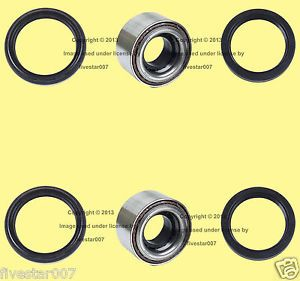 Left Right Front Wheel Bearings w Inner Outer Seals Kit for Subaru Saab