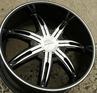 KMC Surge KM665 22 x 9 5 Black Rims Wheels 4WD Chevrolet Blazer 88 Up 5H 30