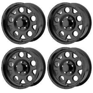 KMC XD122 Enduro XD12268060700 Rims Set of 4 16x8 0mm Offset 6x5 5 Matte Black