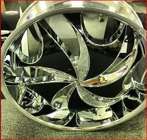 "26"" Wheels Rims and Tire Package RS561 Triple Chrome 6x135 ET30 Sierra F150 24"