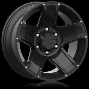 "5 17"" Mamba M13 Matte Black Wheels Rims 5x5 5 Lug Jeep Wrangler JK Set of 5"