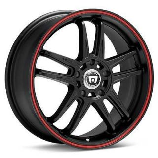 4 18 inch Motegi Racing MR117 18x7 5 4x100 Black Rims Wheels Huge Sale