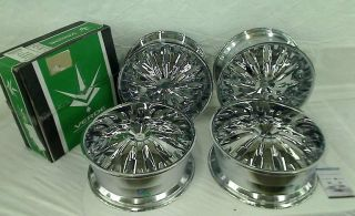 "Set of 4 24"" x 9 5 Verde Titanio Chrome Wheels Rims V28 2495418C"