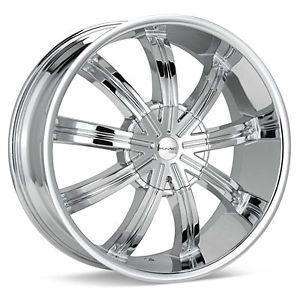 "20"" KMC Widow Wheel Set 20x8 5 Chrome rwd 5 6 Lug Vehicles"