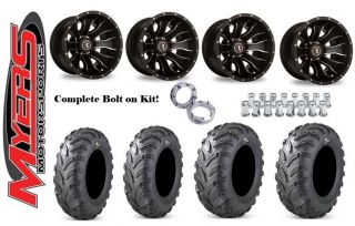 "Polaris Razor RZR 170 Tires and Wheels Kit Bolt on 12"" Mamba and 23"" Swamp Fox"