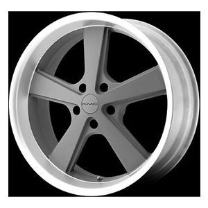 "22"" KMC 22 inch Nova 5 Lug Gray Machined Wheels Rims Set of 4"