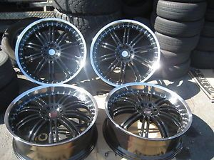 "22"" KMC Dime KM127 Gloss Black Machine Wheels MHT FOOSE Dub Fuel"