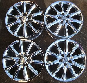 Buick Lucerne 18 inch Chrome Rims Set of 4 Ten Spoke Gently Used 5 Lug 245 50R18