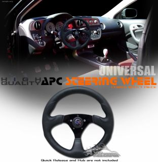 "Universal 14"" Black Racing Steering Wheel Car Truck SUV"