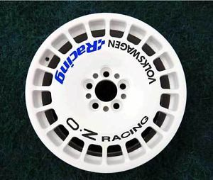Volkswagen oz Racing Sparco Wheel Decal Sticker Black Blue X8