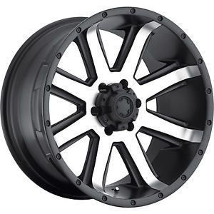 16x8 Machined Black Ultra Crusher 195 Wheels 6x4 5 15 Nissan Frontier