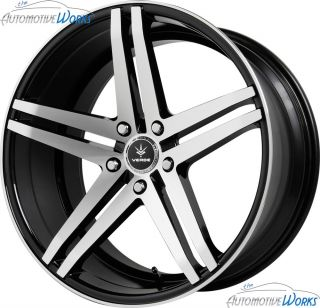 1 20x10 Verde Parallax 5x112 42mm Gloss Black Wheel Rim inch 20""