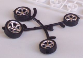 Big Little Hot Rod Tires Wheels Revell 1 25 Model Parts