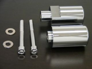 No Cut Aluminum Chrome Frame Sliders for 2004 2005 Suzuki GSXR 600 750 GSX R600