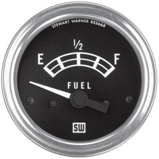 "Stewart Warner Standard Series Electrical Fuel Level Gauge 2 1 32"" Dia 82211"